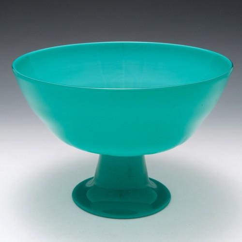 A Signed Cenedese Incamiciato Glass Bowl c1960