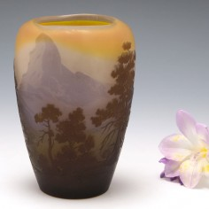RESERVED An Iconic Galle Cameo Landscape Vase c1920