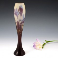 A Galle Three Colour Cameo Glass Vase 1900-04