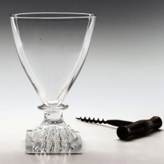 A Georgian Glass Rummer With Square Foot c1805