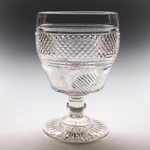 A Fine Cut Glass Serving Rummer c1825