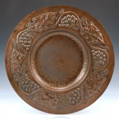A Large Arts and Crafts Copper Charger c1910