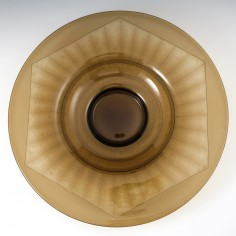 A Schneider Geometric Wide Rimmed Charger c1935