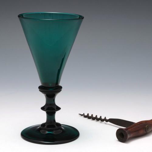 Bristol Green Wine Glass  c1820
