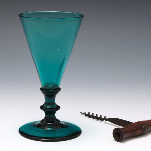 A Cyan Blue Wine Glass c1820