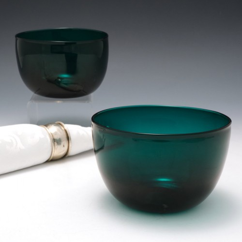 Late Victorian Glass Finger bowls c1900