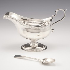 A George III Sterling Silver Sauce Boat London 1781