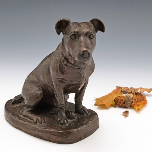 'Boris' A Limited Edition Bronze of a Jack Russell Terrier by Mary Beattie Scott