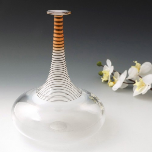 Very Tall Bottle Vase By Bertil Vallien For Kosta Boda