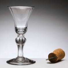 Georgian Baluster Stem Wine Glass c1725