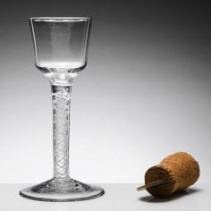 Single Series Opaque Twist Wine Glass c1760