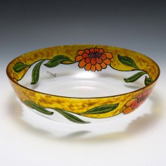 Large Legras Enamelled  Bowl  c1925