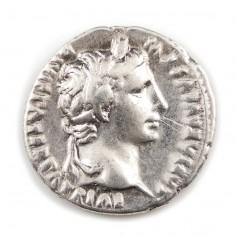Emperor Augustus, Silver Denarius, 7-6 BC