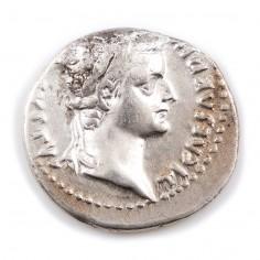 Emperor Tiberius, Silver Denarius, 'Tribute Penny' after 16 AD