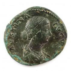Faustina II or Younger (Wife of Emperor Marcus Aurelius), Brass Sestertius, 161-175 AD