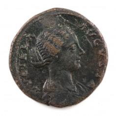 Lucilla (Daughter of Emperor Marcus Aurelius) Brass Sestertius, 164-167 AD
