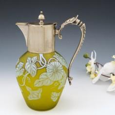 A Cameo Glass Claret Jug c1890