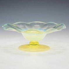 John Walsh Opaline Uranium Bon Bon Dish c1890