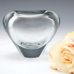 A Holmegaard Heart Vase by Per Lutken c1960