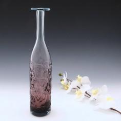 A Mdina Bottle Vase Amethyst On Aquamaine c1980
