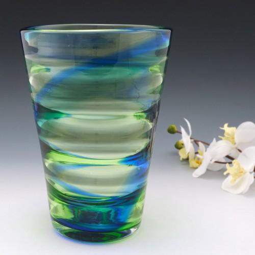 A Tall Stevens and Williams Rainbow Glass Vase 1935-40