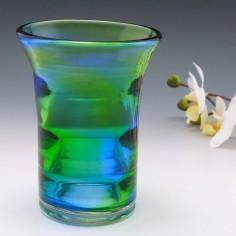 A Royal Brierley Stevens and Williams Rainbow Vase