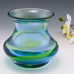 Stevens and Williams Rainbow Glass Baluster Vase 1935-40