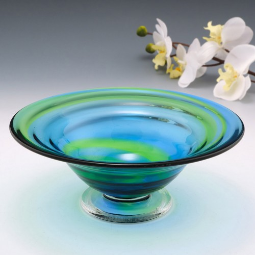 Stevens And Williams Rainbow Footed Glass Bowl 1935-40