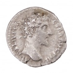 Marcus Aurelius as Caesar, Struck Under Emperor Antoninus Pius, Silver Denarius, Minerva, AD 148-9