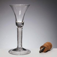 Georgian Air Twist Glass With Folded Foot c1745