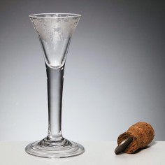 An Engraved 18th Century Wine Glass