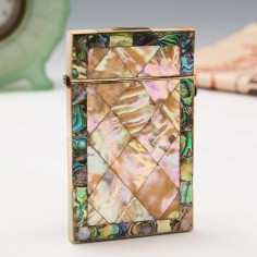 A Ladies Mother of Pearl and Abalone Visiting Card Case c1880