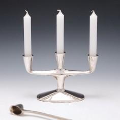 A Modernist Sterling Silver Candelabrum c1960