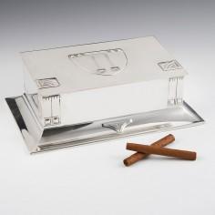 WMF Silver Plate Secessionist Cigar Box c1906