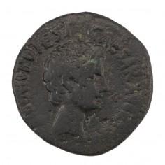 Emperor Augustus Octavian Copper As Moneyer Asinius Gallus 16 BC