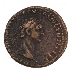 Emperor Domitian Copper As Moneta AD 90-91