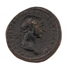 Emperor Trajan Copper As AD 114-117
