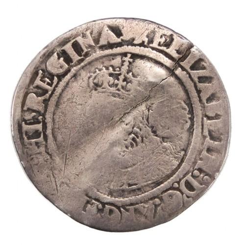 Elizabeth I Silver Sixpence Small Lion Mint Mark 1566
