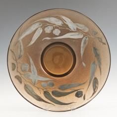 Daum Belle Etoile Metal Overlay Acid Etched Bowl c1930