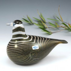 """An Early Nuutajarvi Oiva Toikka Signed """" Long Tail Duck """" c1980"""