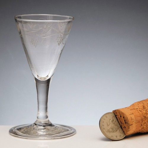Engraved Gin Glass c1750