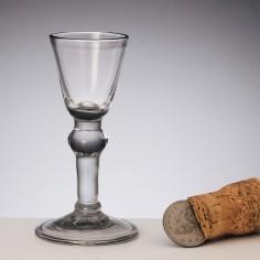 Georgian Baluster Gin Glass c1725