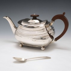 George IV Sterling Silver Teapot London 1829