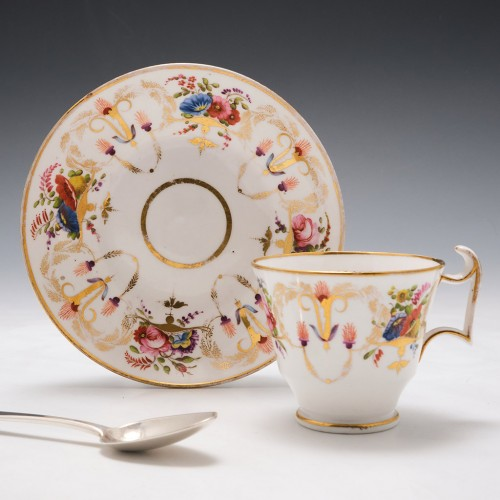 Spode Porcelain Pattern 2777 Coffee Cup and Saucer c1820