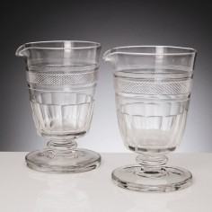 A Pair Of Cut Glass Mixing Rummers c1830