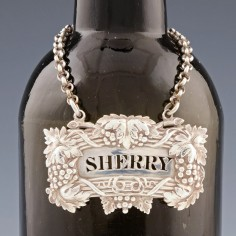 A Sterling Silver Decanter Lable London 1835