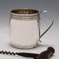 A One Gill Sterling Silver Mug London 1815
