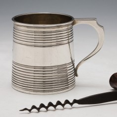 A Sterling Silver One Gill Silver Tankard London 1818