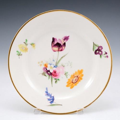 A Swansea Porcelain Dessert Plate c1820