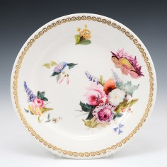 A Swansea Porcelain Plate by Henry Morris c1820